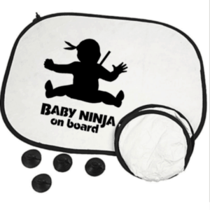 auto zonnescherm baby Ninja on board