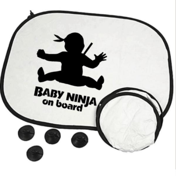 auto zonnescherm baby Ninja on board