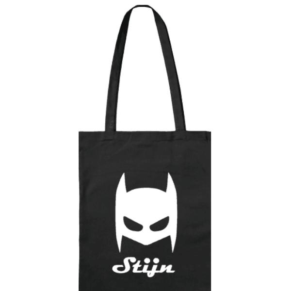 katoenen tas Batman met naam