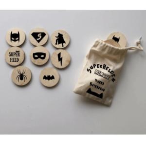 Houten memory superhelden batman superman