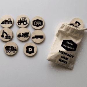 Stoere voertuigen memorie memory vrachtwagen zandauto tractor