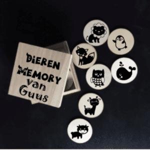 Houten Dieren memory in doosje