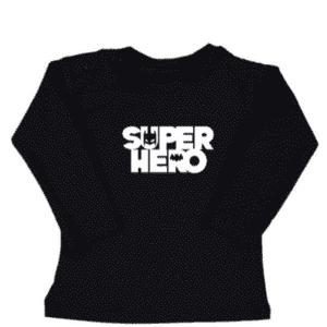 baby kinder tshirt Superhero silhouette