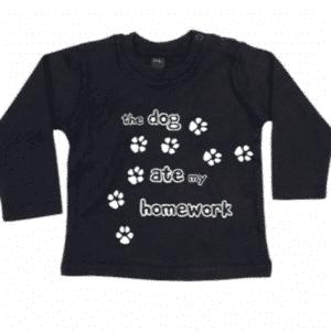 kinder Tshirt the dog ate my homework