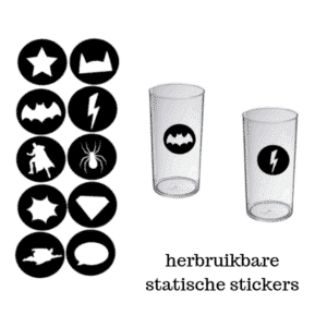 Statische glasstickers glass markers superhelden