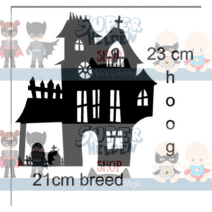raamsticker spookhuis haunted house
