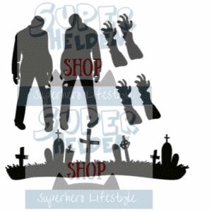 zombie raamstickers spookhuis halloweenfeest