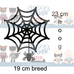 grote raamsticker spinnenweb halloween