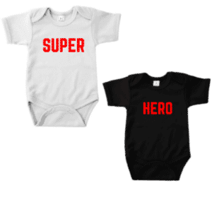 twinset romper super hero