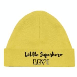 Babymuts Little Superhero met naam