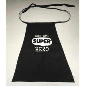 Superhelden cape Part time Superhero