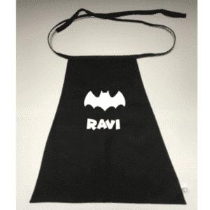 vleermuis Batman cape met naam
