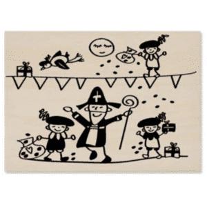 Houten kaart Sinterklaasfeest
